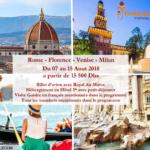 Rome - Florence - Venise - Milan